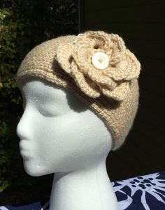 A personal favorite from my Etsy shop https://www.etsy.com/listing/250834947/crochet-headband-ear-warmer-with-flower