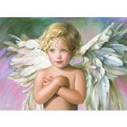 This is the angel that I have matted and framed. Her name is Grace! Love it!