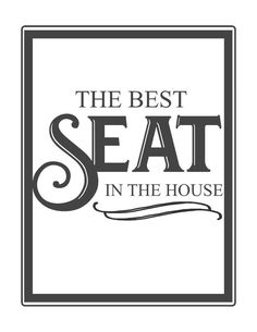 Beau Free Bathroom Printables Best Seat In The House