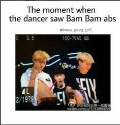 #Got7 #BamBam's abs lol