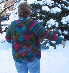 Ravelry: #24 Mitered Jacket pattern by Betty Monroe
