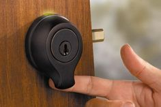 The Kwikset SmartScan Biometric Deadbolt uses sub-dermal sensors that'll open the door with the swipe of your finger.