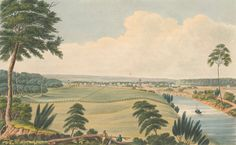 Historic Picture: Liverpool, New South Wales 1824 by Joseph Lycett First Fleet, Australian People, Early Explorers, Botany Bay, Australian Painting, Aboriginal People, Historical Pictures, Antique Prints