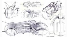 Monkee Design - Industrial Design Blog/ Student Resource - Daniel Simon Concept Sketches for Tron