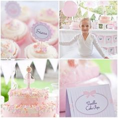 Little Ballerina Printable Party Collection