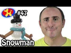Balloon Snowman - Balloon Animal Lessons #47 - YouTube Balloon Dog, Balloon Animals, Emoji Christmas, Xmas, Twisting Balloons, How To Make Balloon, Make A Snowman, Dog Logo, Make It Yourself