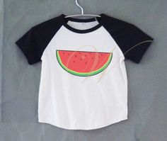 Watermelon fruit graphic tshirt short raglan shirt kids /off