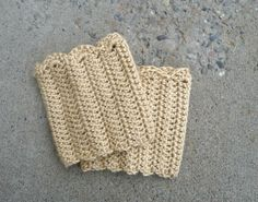 Domestic Bliss Squared: Boot Cuffs Crochet Pattern...Free!