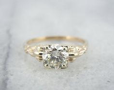 Love the setting but overall diamond quality seems low for the price. This retailers seems to have same cost for lower qualities. Retro 1940's Fine Diamond Engagement Ring R7KT1JP by MSJewelers, $3615.00