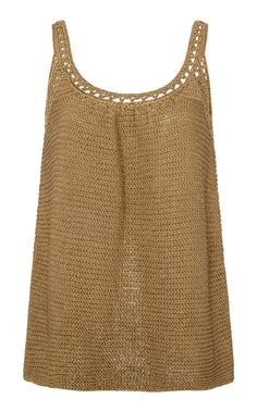 Open Back Tank Top by MARINA MOSCONE for Preorder on Moda Operandi