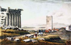 """""""Άποψη του Παρθενώνα» του  Charles Frederick de Brocktorff, c.1835. Ιδιωτική συλλογή.  """"View of Parthenon"""" by Charles Frederick de Brocktorff, c.1835. Private collection"""