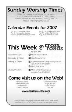 How to format church bulletins churches church ideas and ministry ideas for Church bulletin ideas layouts