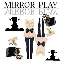 """☆Mirror Play☆"" by ranelle1215 ❤ liked on Polyvore featuring Ted Baker, Alexis Bittar, Louis Vuitton, BCBGeneration and Paul Andrew"