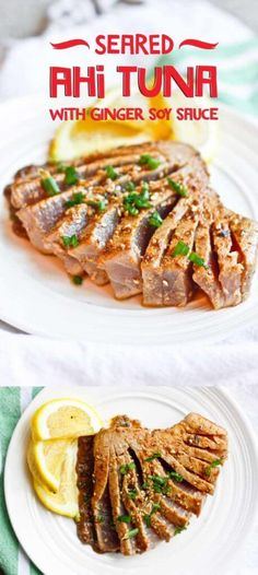 Seared Ahi Tuna with Ginger Soy Sauce- Delicious, Easy, and Ready in 15 Minutes