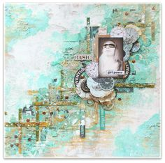 Wilma Voermans: Scraps of Darkness mixed media layout September inspiration.