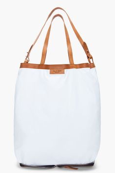 Rag and Bone white Collapsible Market Tote
