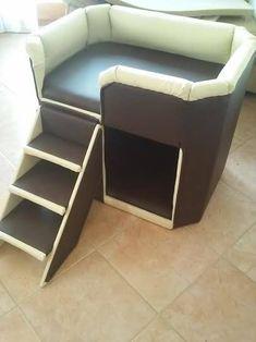 Kundenspezifische Hundebett Länge: 70 cm Höhe: 60 cm Tiefe: 50 cm cca. 20 kg (Massiv Holz) Handgefertig die Treppe ist abnehmbar Bezug nicht abnehmbar Die Treppe nach Bedarf...
