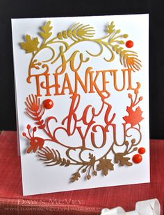 For the card, I started out with a piece of white card stock and blended four inks on it -- saffron spice, canyon clay, terracotta tile and cocoa bean -- and then I ran it through my Vagabond with the Paper Clippings: Thinking of You die.  These die cuts are so detailed and gorgeous,