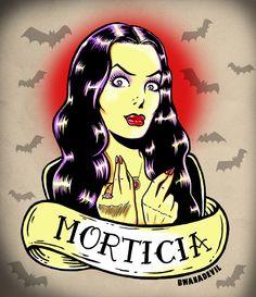 morticia addams tattoo - Google Search