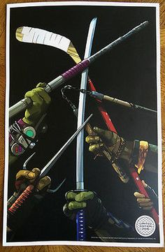 Teenage Mutant Ninja Turtles: Out of The Shadows Movie LE Poster / Print 2016