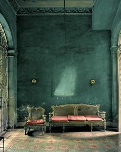 Colours of Cuba by Michael Eastman. Cuba + the capital Havana are full of graceful crumbling architecture colours. Lush Green, Go Green, Pink And Green, Emerald Green, Kelly Green, Emerald City, Bright Green, Emerald Color, Green Art