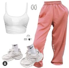 Swag Outfits For Girls, Cute Swag Outfits, Cute Comfy Outfits, Teen Fashion Outfits, Girly Outfits, Retro Outfits, Teenage Outfits, Look Fashion, Trendy Outfits