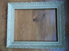 "Large 14"" x 18"" empty ornate wooden picture frame. $49,00, via Etsy."