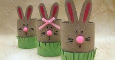 Easter bunny craft idea for kindergarten – Preschoolplanet Easy Easter Crafts, Spring Crafts For Kids, Bunny Crafts, Easter Crafts For Kids, Toddler Crafts, Easy Art For Kids, Paper Bunny, Rainy Day Crafts, Toilet Paper Roll Crafts