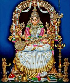 Mysore Painting, Tanjore Painting, Kalamkari Painting, Kerala Mural Painting, Shiva Art, Krishna Art, Hindu Art, Krishna Mantra, Saraswati Goddess