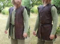 Leather vest/coat with buttons. by Henord on deviantART