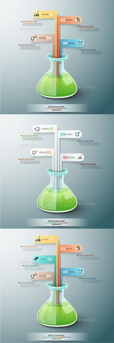 Modern Design gear style infographic template can be used for - chemistry chart template