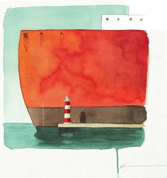 """Nautical illustration """"lost and found boat"""", oliver jeffers - #nautical"""
