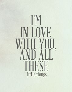 All these little things...