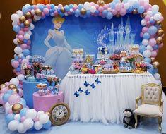 Valentina ganha festa de Cinderela para comemorar 3 anos