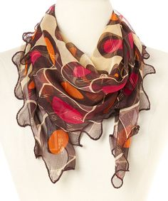 Another great find on #zulily! Black & Yellow Pink Polka Dot Silk Scarf by Zashi #zulilyfinds