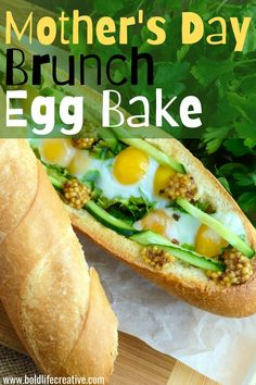 This baguette brunch bake is versatile for any occasion. I'm making it again this weekend for Mother's Day. Simply choose your filling ingredients, I prefer beyond sausage links, sharp cheddar cheese, sundried tomatoes, spinach, mushrooms, and red peppers. Next, pour the egg mixture over top and bake inside of a baguette.You can also make this gluten-free and vegetarian!