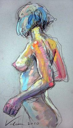 Marie 2 - Painting ©2010 by Raluca Vulcan -