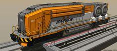 Nuclear Freight Engine by Marrekie.deviantart.com on @DeviantArt