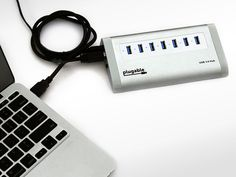 Plugable 7-Port USB 3.0 SuperSpeed Hub Find Organization in the Chaos--One Hub, Seven USB Devices