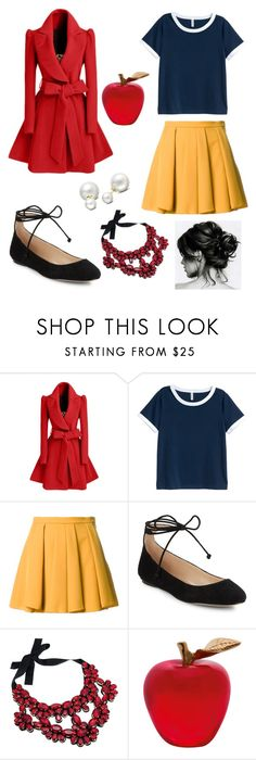 """""""snow white"""" by sabrina-palmer ❤ liked on Polyvore featuring WithChic, Guild Prime, Karl Lagerfeld, Daum and Allurez"""