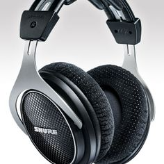The (currently) new Shure SRH-1540 premium closed-back headphones. I (currently) hope to wrap my brain in them some day.