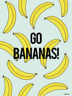 Go Bananas! 30x40 Blue
