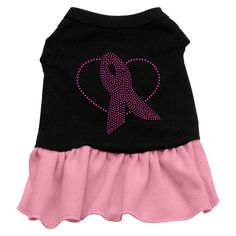 Mirage Pet Products Pink Ribbon Rhinestone 18-Inch Pet Dress, XX-Large, Black with Pink *** Insider's special review you can't miss. Read more  : Dog Dresses