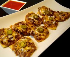 TSR Chi Chi Nacho Grande... I miss this restaurant so much.  I make these using tostada's instead of making my own tortilla chip.  So Yummy.