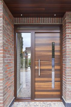 Terano in fumed oak Modern Entrance Door, Modern Wooden Doors, Modern Exterior Doors, Contemporary Front Doors, Wood Exterior Door, Exterior Front Doors, Home Door Design, Door Design Interior, Wooden Door Design