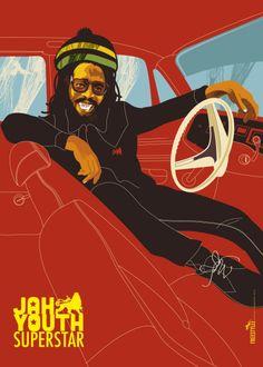 Michael Thompson's poster art portfolio and shop Reggae Rasta, Rasta Art, Reggae Music, Reggae Artists, Soul Artists, African American Artist, American Artists, Black Music Artists, Nesta Marley