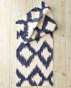 Ikat Flat-Weave Wool Rug