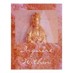 Rose-Bronze Kwan Yin Print from Jan4insight* on Zazzle - SOLD an inspirational poster, 12.10.13