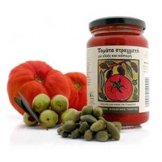 Organic Sieved Tomato with Olives and Capers 330gr