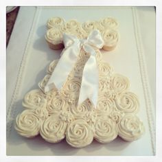 Christening Gowns cake | Baptism cupcake dress for a dear friend's ... | Cupcakes Cakes and Co ...
